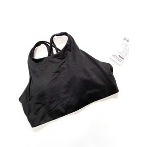 Athleta Hyper Focused High Neck Bra Black A-C
